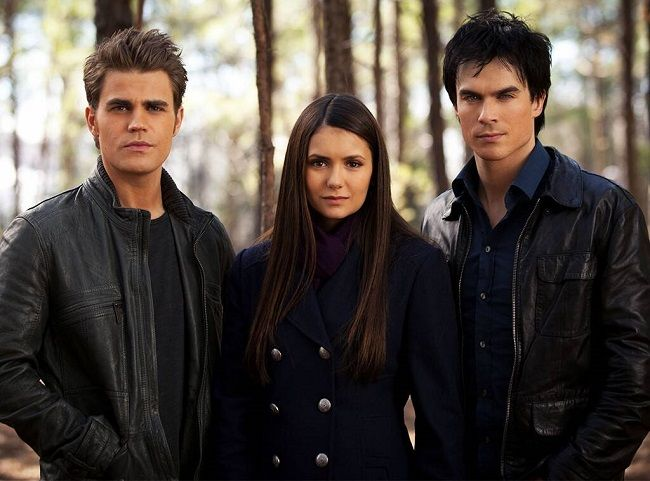 Paul Wesley with co-stars