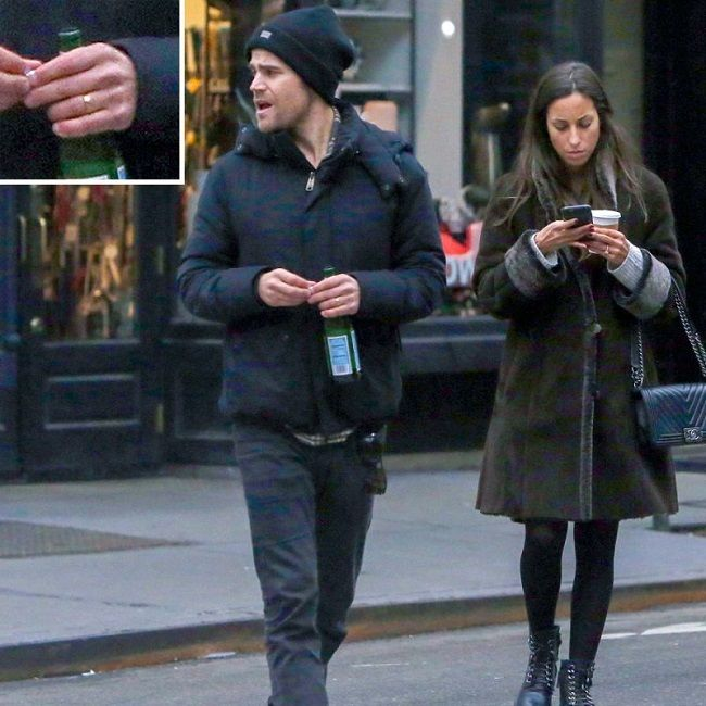Paul Wesley with wife