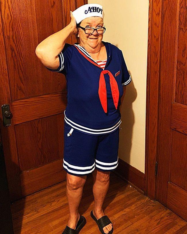 Angry Grandma Pose