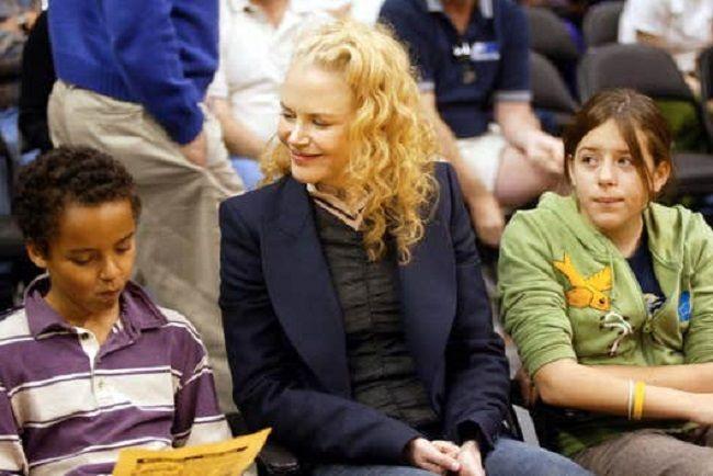 Connor Cruise, Nicole Kidman, and Isabella Cruise
