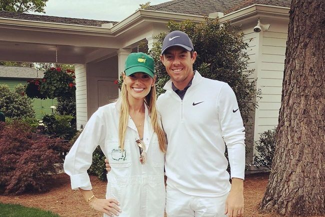 Rory McIlory and Erica Stoll
