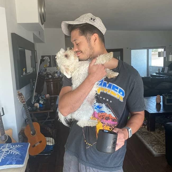 Ross Butler and his Pet