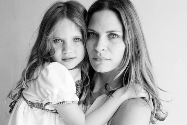 Frankie Rayder and daughter