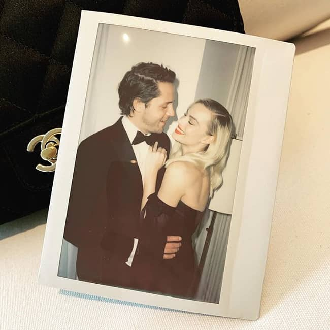 Margot Robbie with her husband